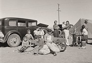 Arriving at Weedpatch Camp from Oklahoma Photo by Dorothea Lange