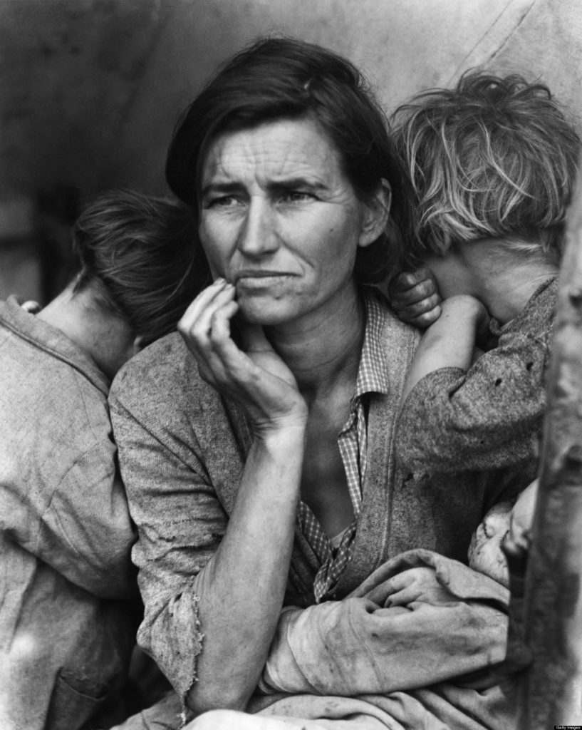 Lange's 1936, Migrant Mother, Florence Owens Thompson
