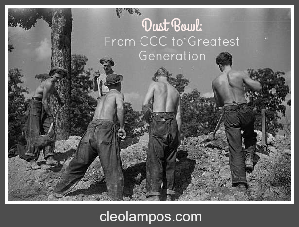 Civilian Conservation Corps boys at work - Photo: Library of Congress