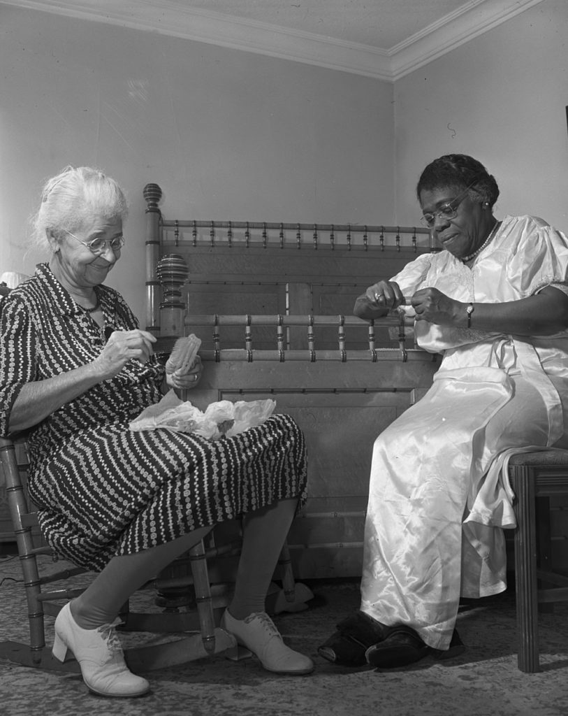 Mary McLeod Bethune and Mrs. Davis, a life-long friend