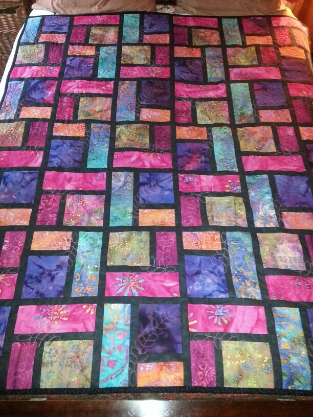Quilt illustration from www Quilting Board.com Wedding Gift-Stained Glass Quilt
